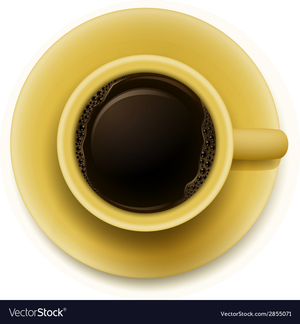 A yellow cup with coffee vector | Price: 1 Credit (USD $1)