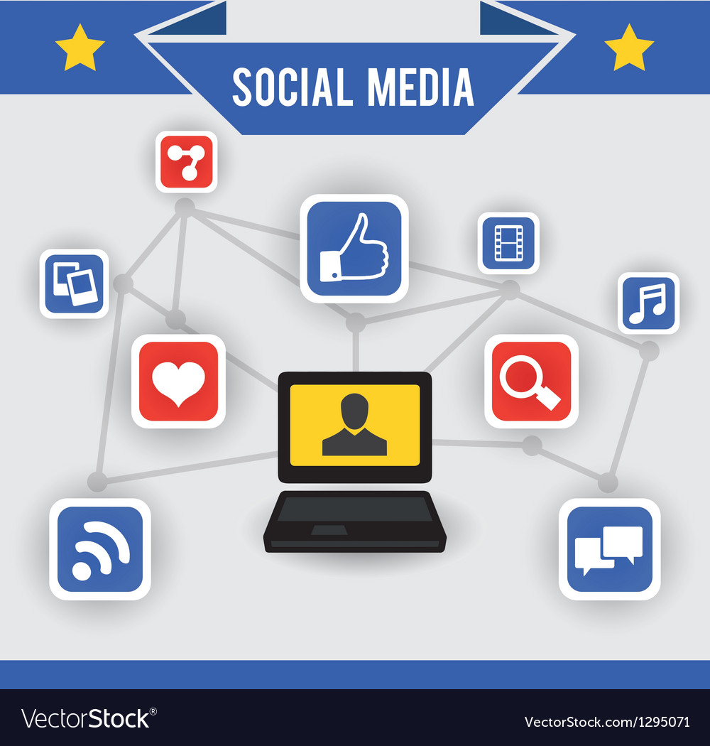 Abstract concept of social media vector | Price: 1 Credit (USD $1)