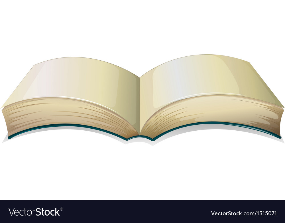An empty thick book vector | Price: 1 Credit (USD $1)