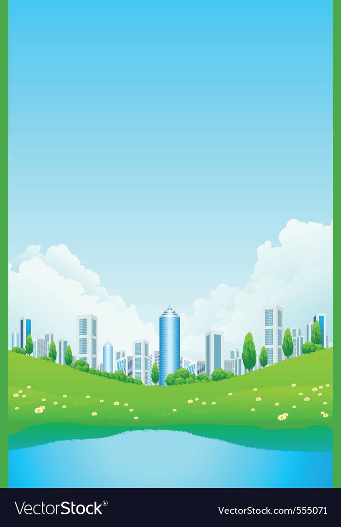 City park vector | Price: 3 Credit (USD $3)