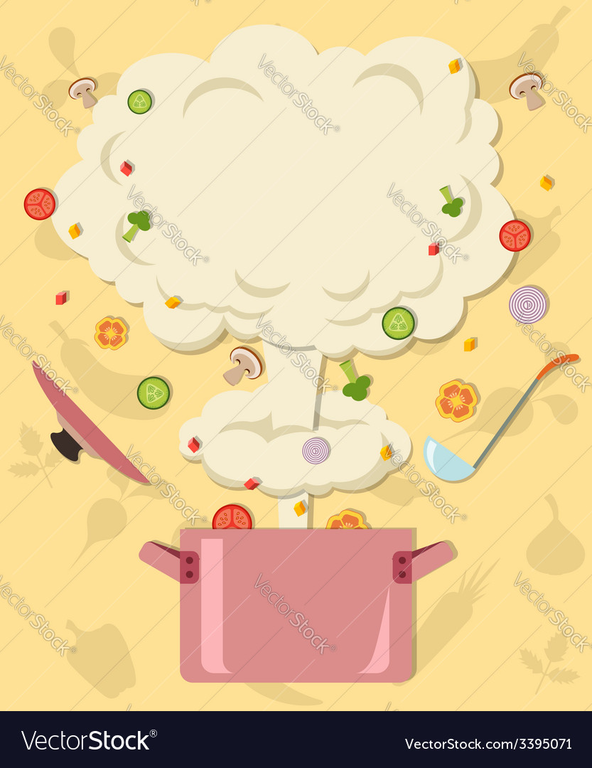 Colored of blast and vegetables flying out of vector | Price: 1 Credit (USD $1)