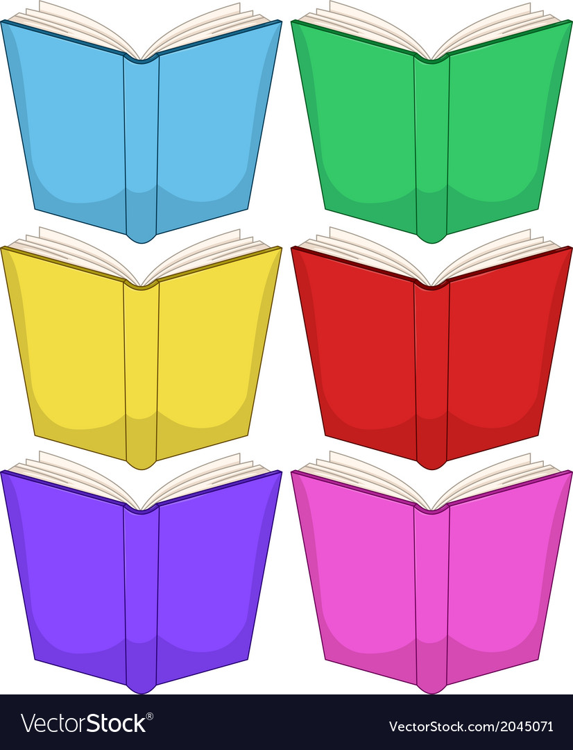 Colorful books pack vector | Price: 1 Credit (USD $1)