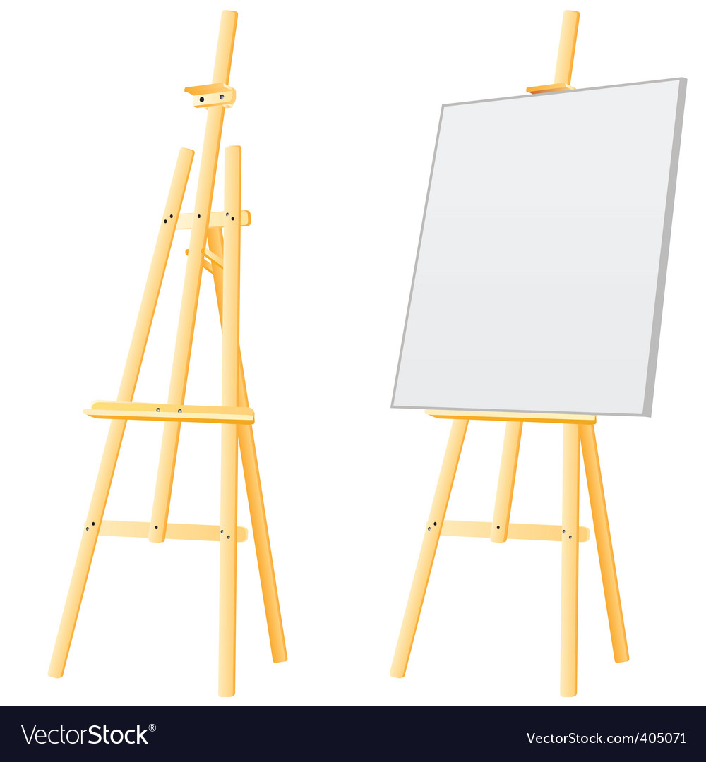 Easel board vector | Price: 1 Credit (USD $1)