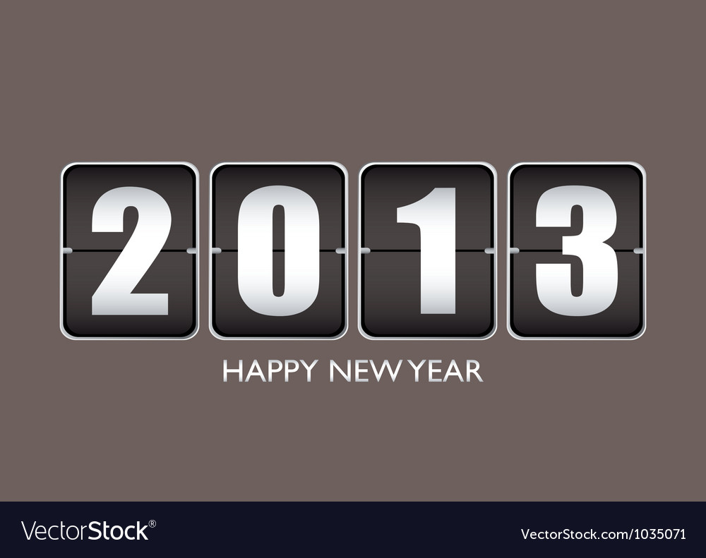 Happy new year 12013 vector