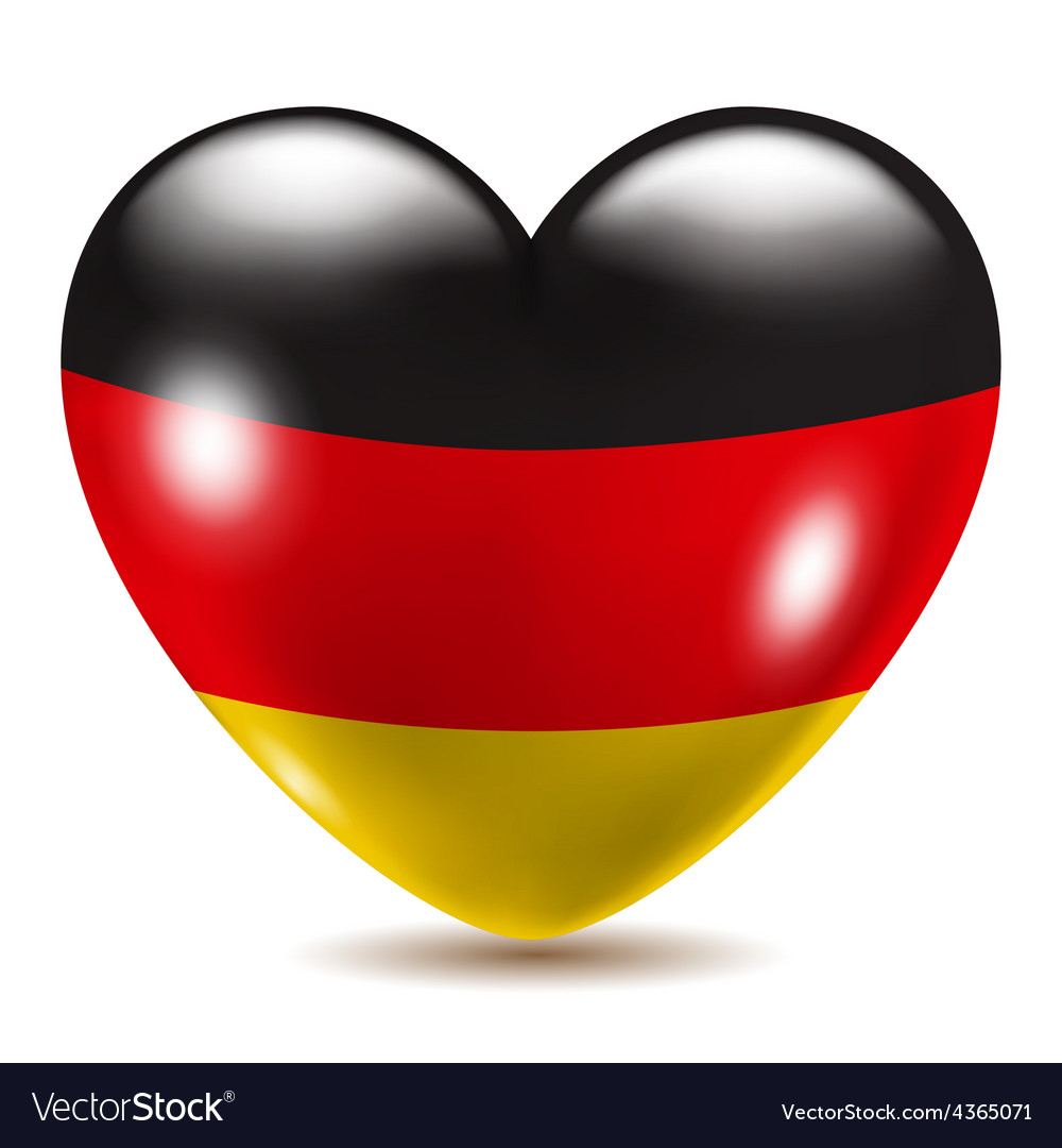 Heart shaped icon with flag of germany vector | Price: 1 Credit (USD $1)