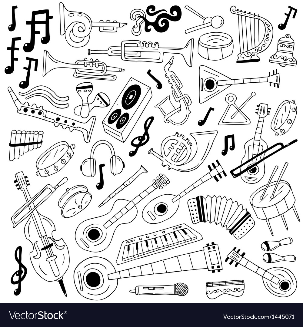 Jazz - doodles vector | Price: 1 Credit (USD $1)