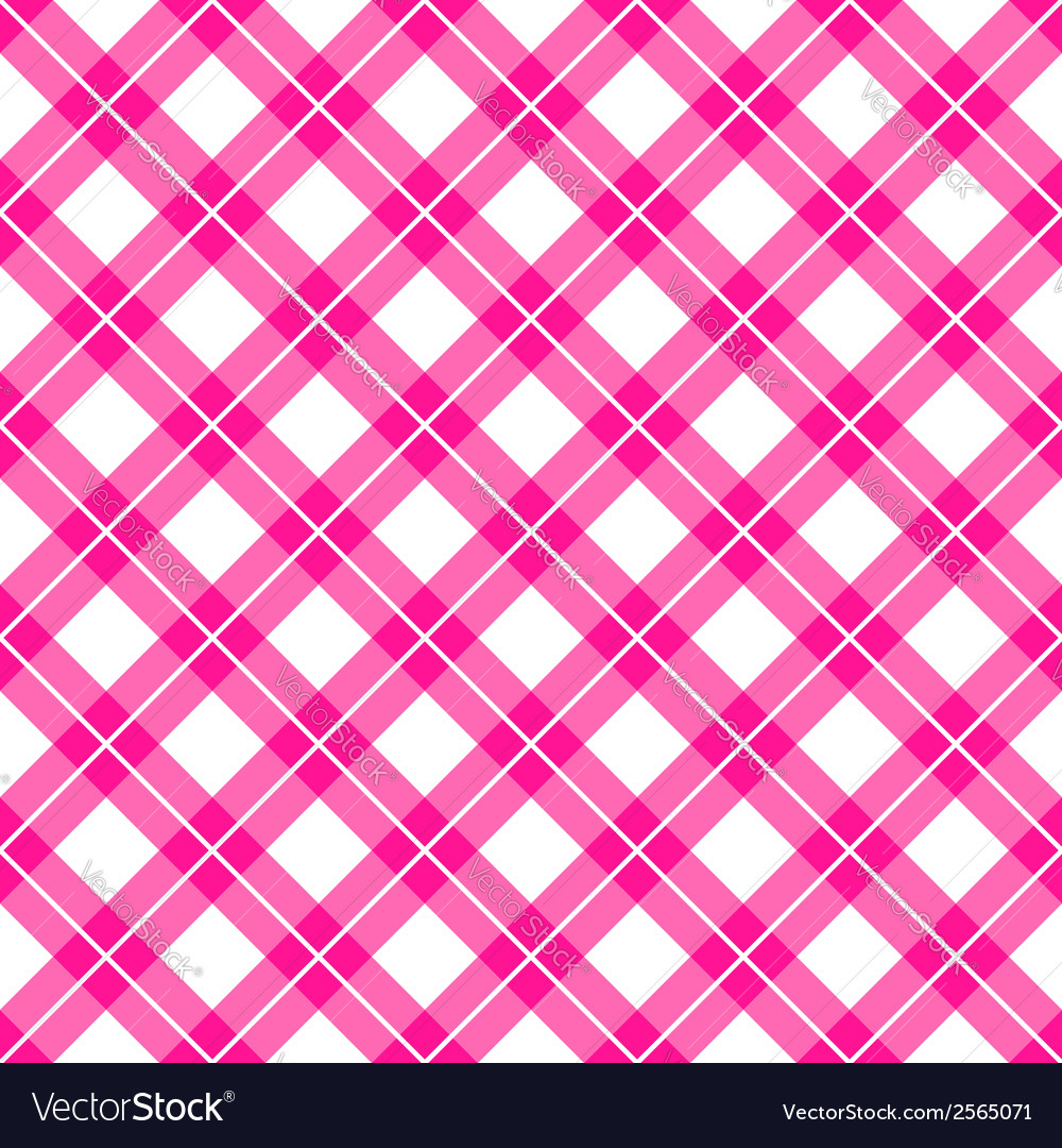 Pink gingham seamless pattern vector | Price: 1 Credit (USD $1)