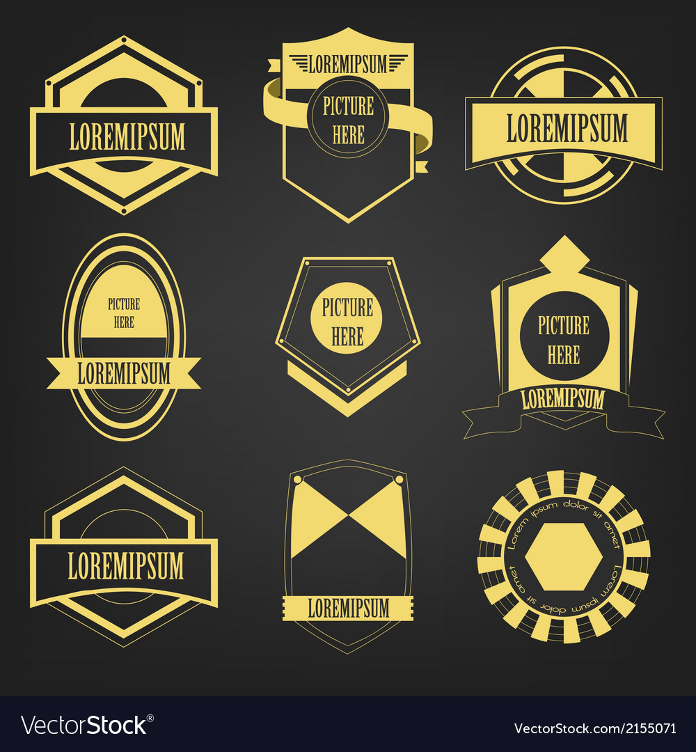 Premium vintage label set vector | Price: 1 Credit (USD $1)