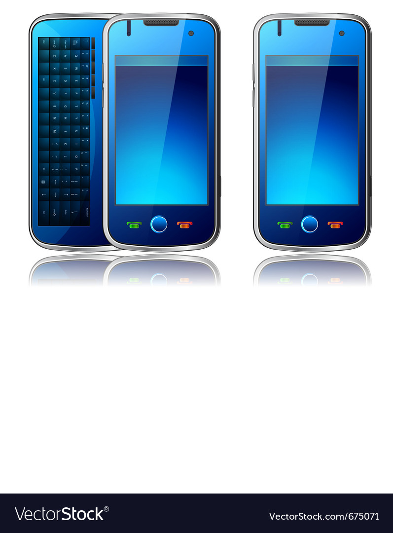 Qwerty mobile phone vector | Price: 3 Credit (USD $3)