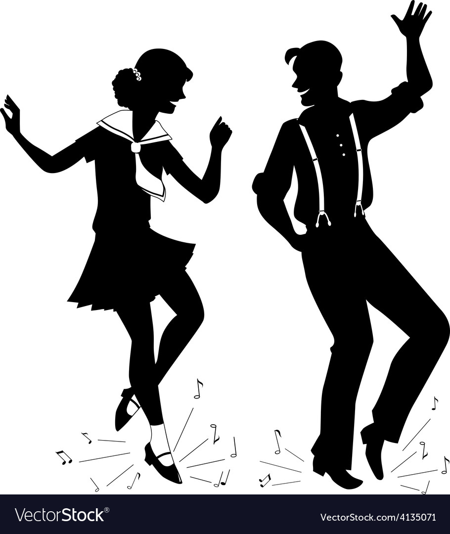Tap dancing silhouette vector | Price: 1 Credit (USD $1)