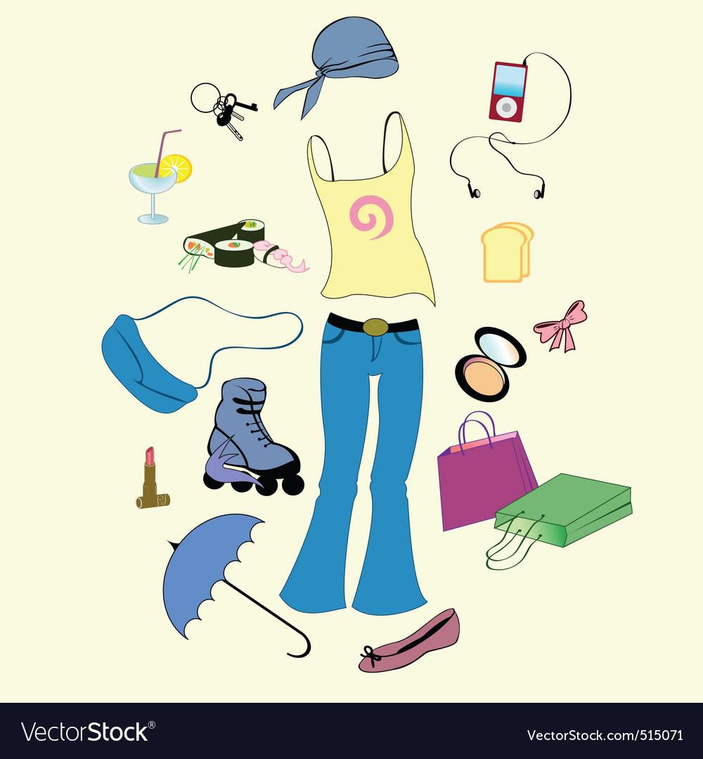 Urban lifestyle vector | Price: 1 Credit (USD $1)