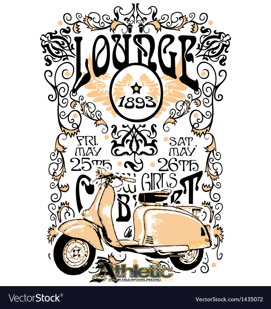 Classic vintage motorcycle vector | Price: 1 Credit (USD $1)