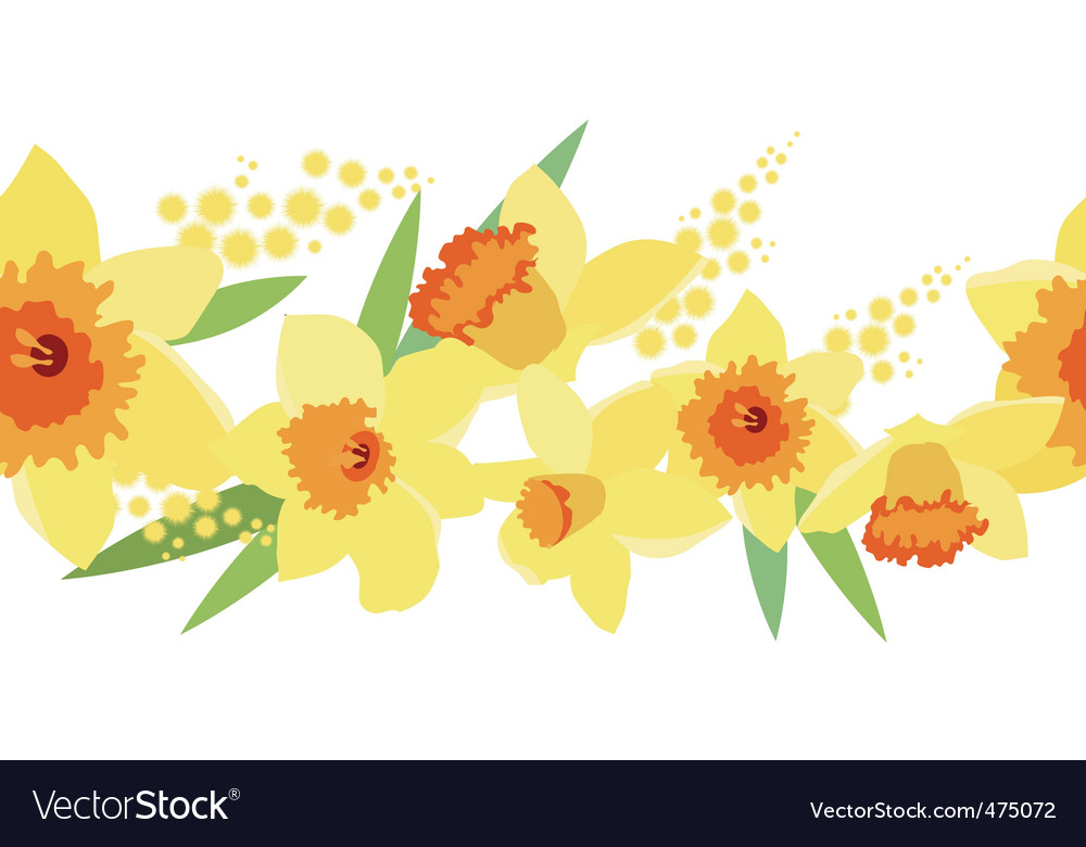 Daffodil pattern vector | Price: 1 Credit (USD $1)