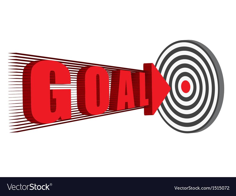 Goal hitting the target vector | Price: 1 Credit (USD $1)