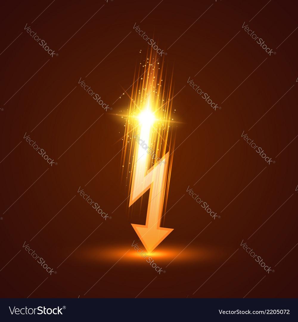 Lightning bolt vector | Price: 1 Credit (USD $1)