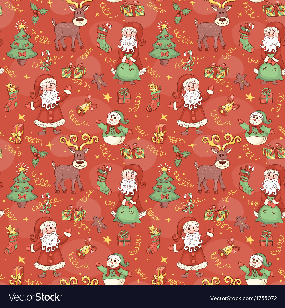 Red holiday seamless pattern vector | Price: 1 Credit (USD $1)