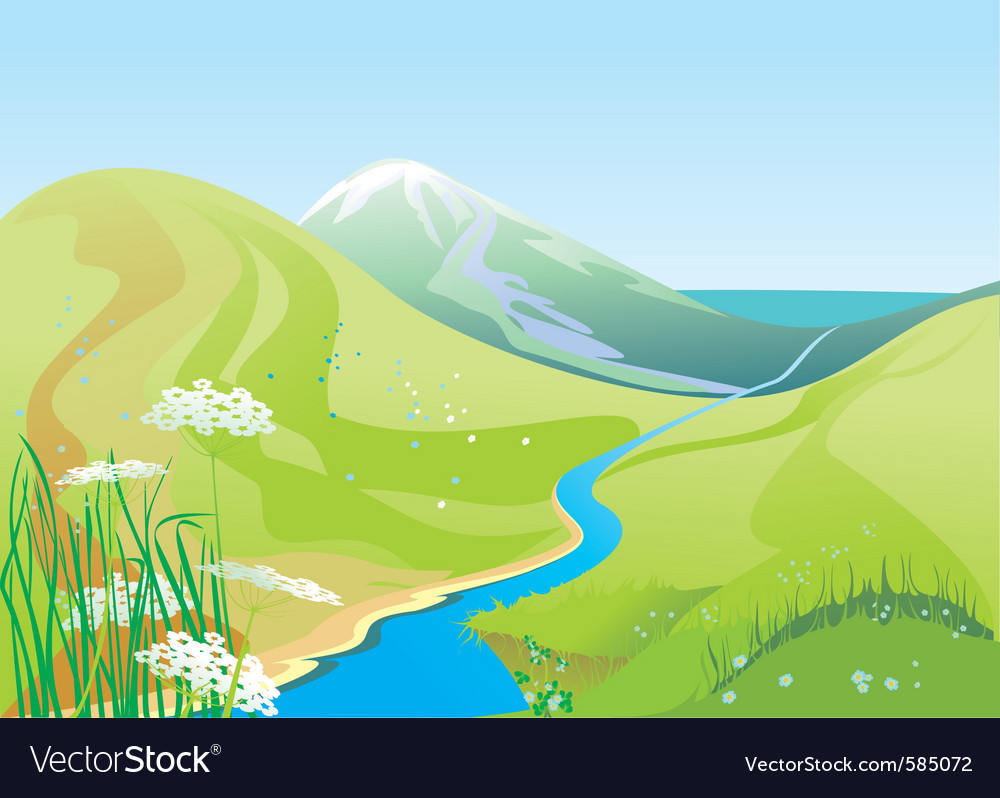 River hills vector | Price: 3 Credit (USD $3)
