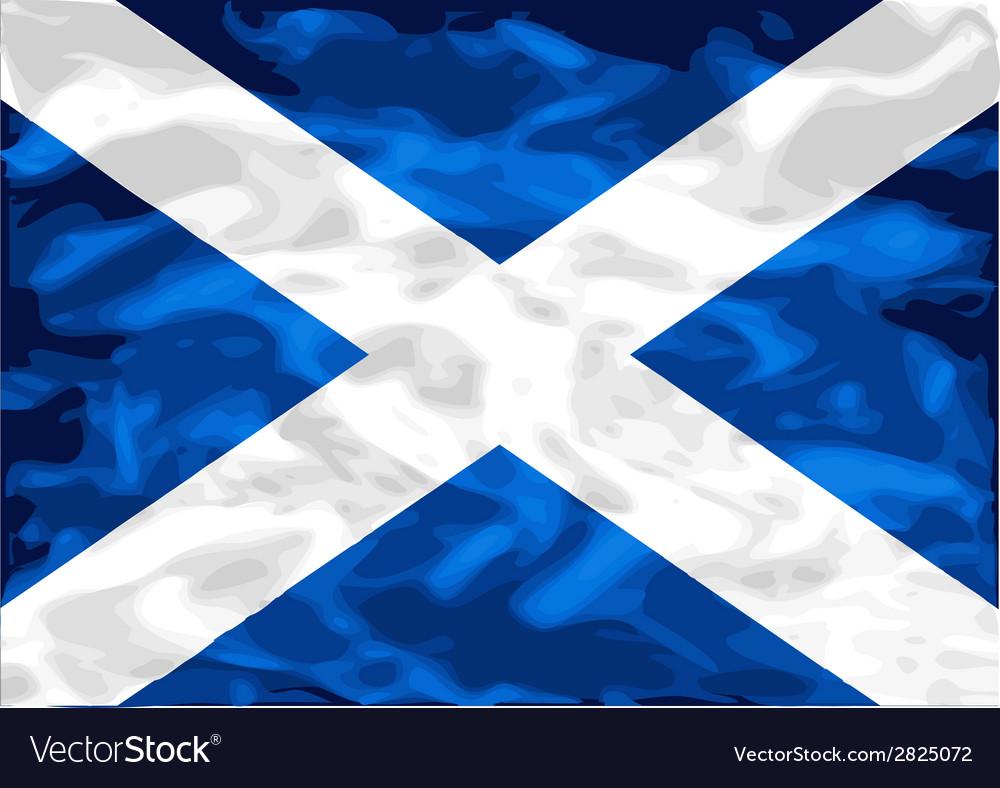 Scottish flag vector | Price: 1 Credit (USD $1)
