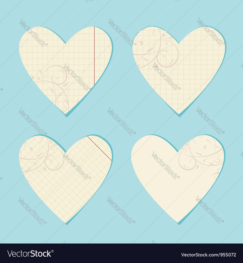 Valentine paper hearts vector   Price: 1 Credit (USD $1)