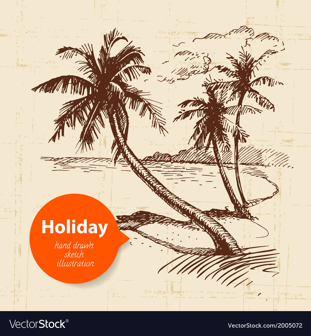 Vintage travel and holiday background vector | Price: 1 Credit (USD $1)