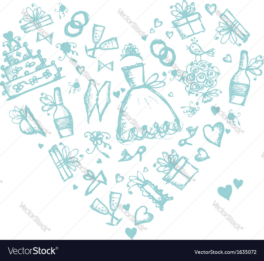 Wedding background heart shape for your design vector | Price: 1 Credit (USD $1)