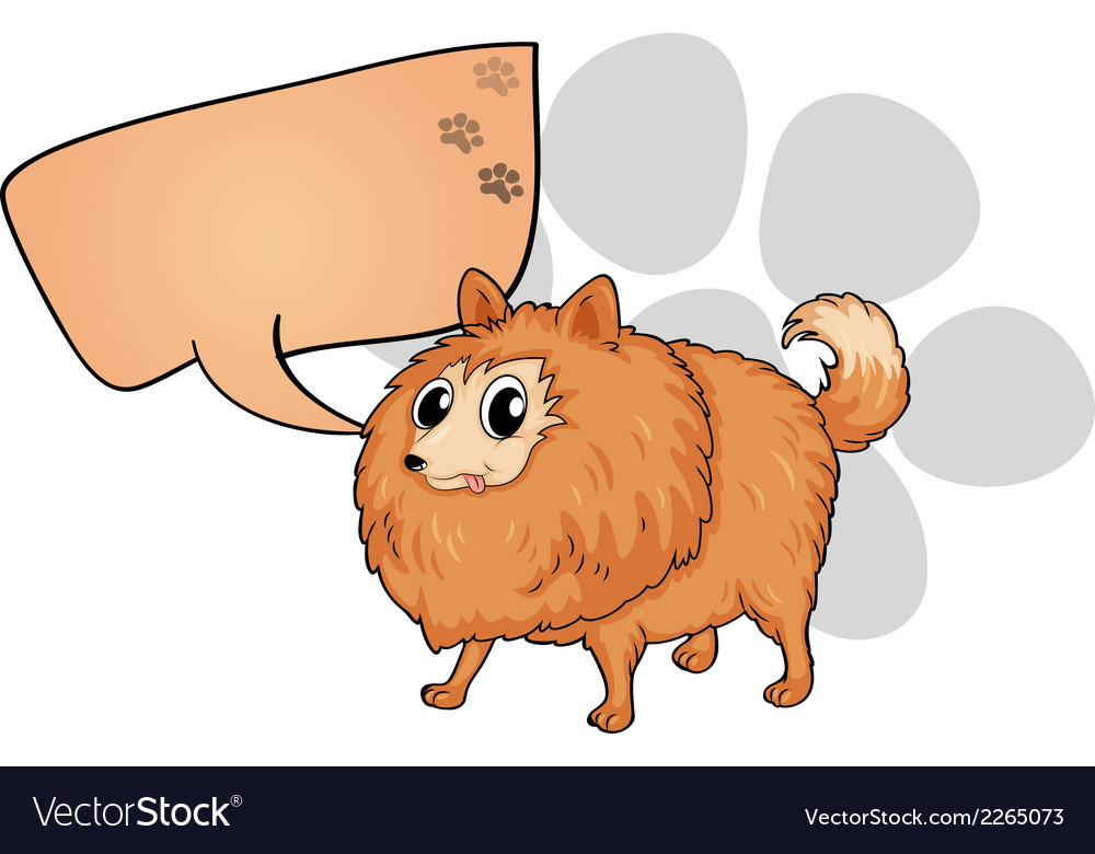 A brown dog with an empty callout vector   Price: 1 Credit (USD $1)