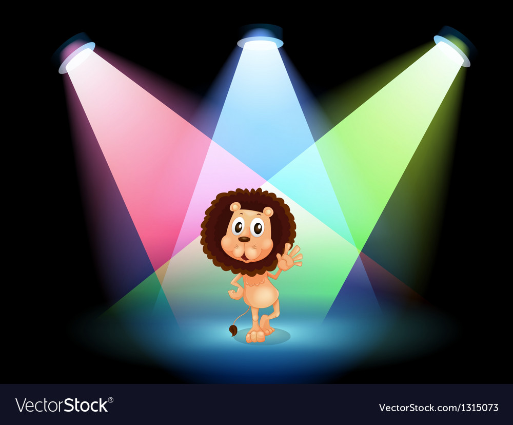 A lion in the spotlight vector | Price: 1 Credit (USD $1)