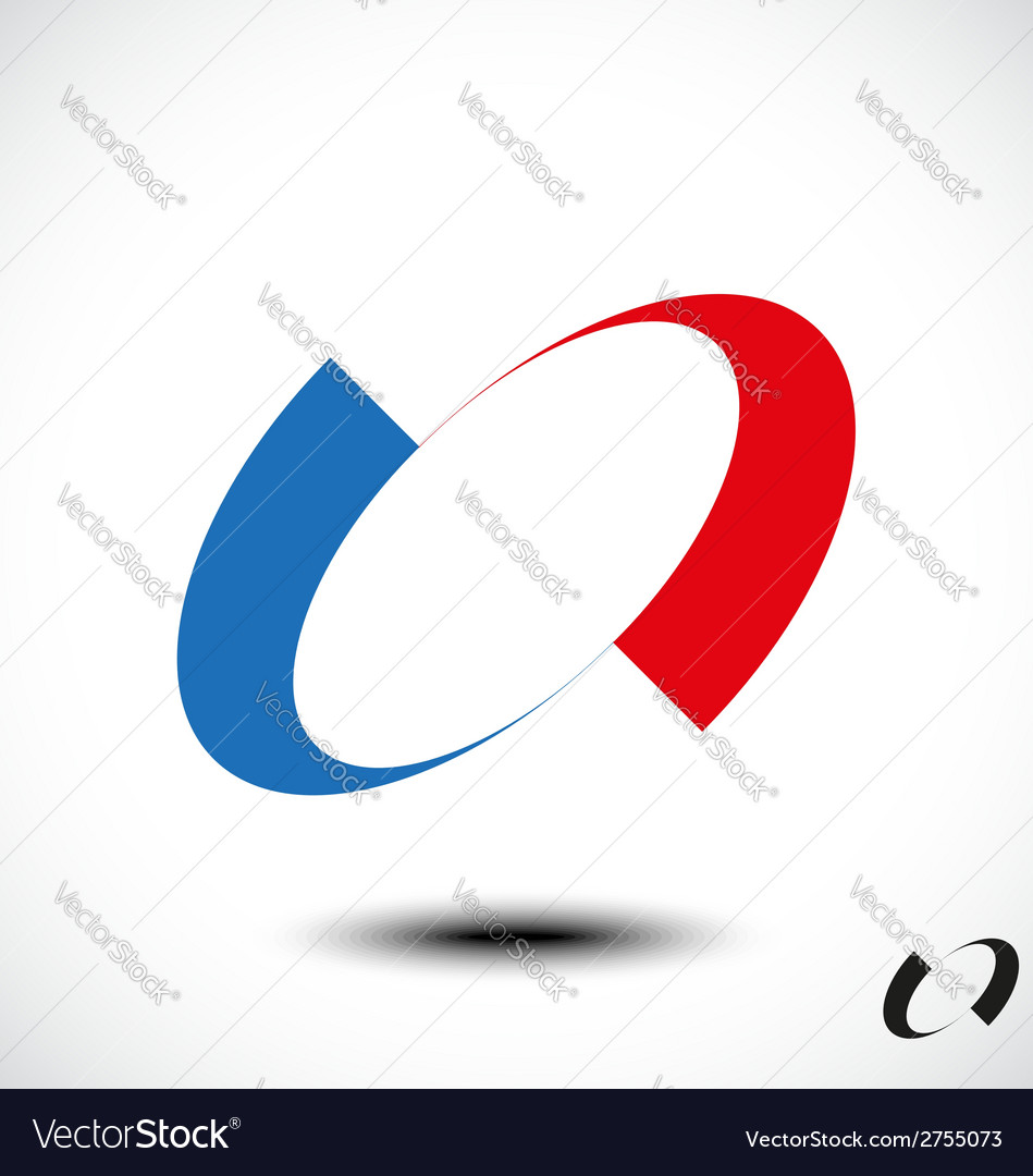 Abstract letter o icon vector | Price: 1 Credit (USD $1)