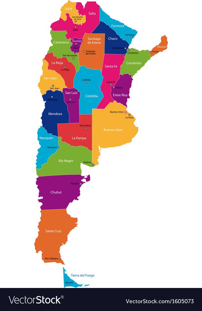 Argentina map vector | Price: 1 Credit (USD $1)