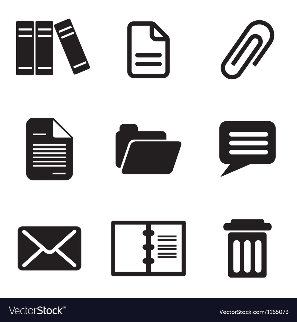 Computer message icons vector | Price: 1 Credit (USD $1)