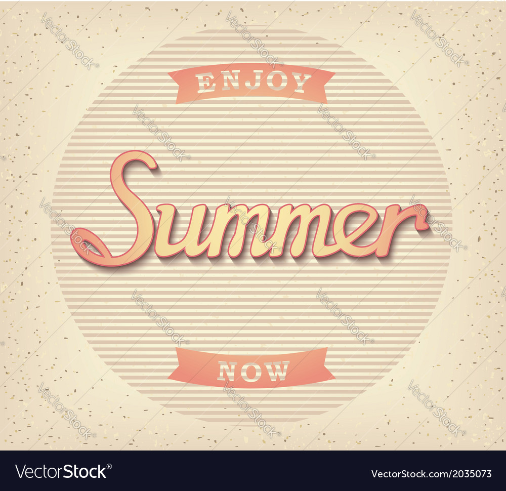 Enjoy summer now poster vector | Price: 1 Credit (USD $1)