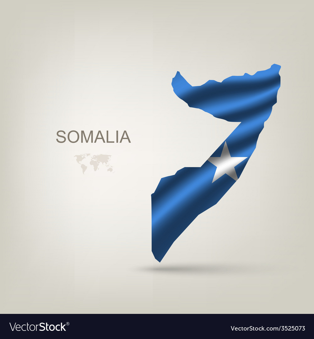 Flag of somalia as a country vector | Price: 1 Credit (USD $1)