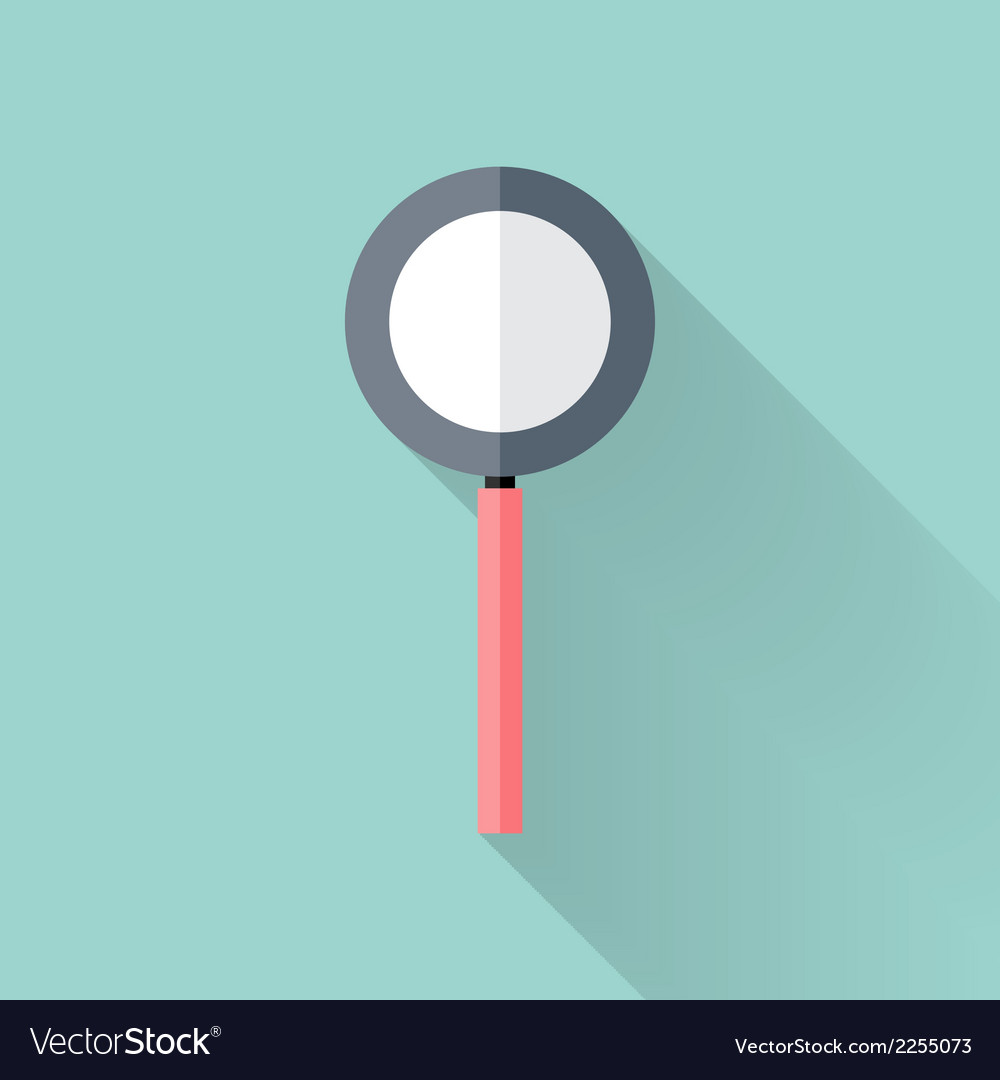 Flat loupe icon over mint vector | Price: 1 Credit (USD $1)