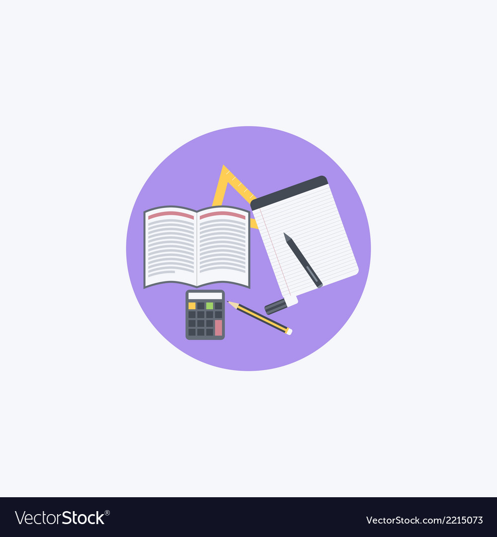 Flat school vector | Price: 1 Credit (USD $1)