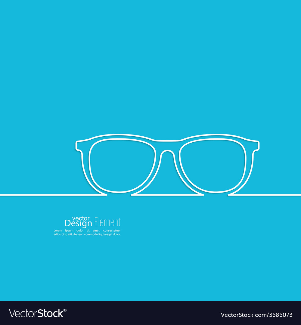 Geek glasses icon vector | Price: 1 Credit (USD $1)