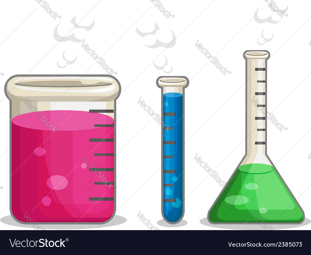 Laboratorium chemical flask vector | Price: 1 Credit (USD $1)