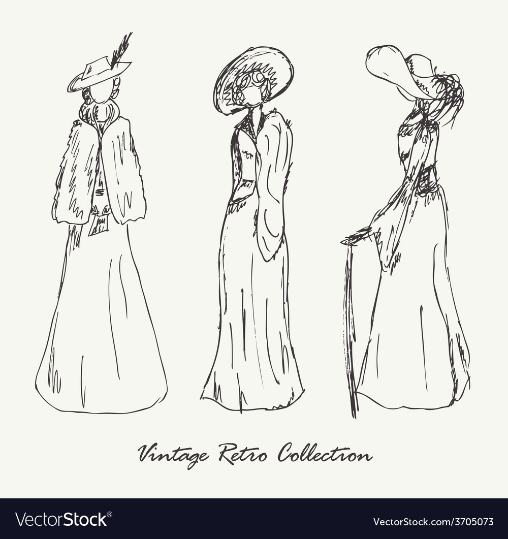 Old fashioned woman design vector   Price: 1 Credit (USD $1)