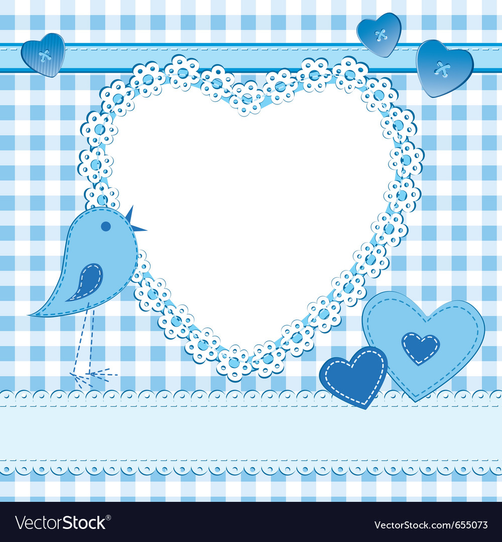 Photo frame or greeting card in blue vector | Price: 1 Credit (USD $1)