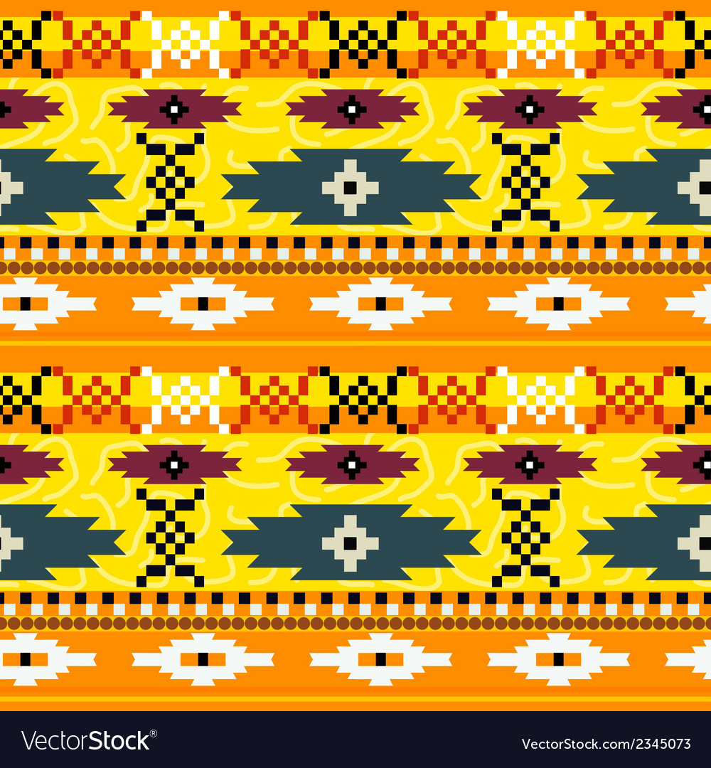 Seamless texture with mexican pattern vector | Price: 1 Credit (USD $1)