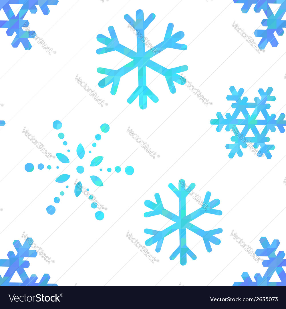 Snowflakes decorative seamless pattern vector | Price: 1 Credit (USD $1)