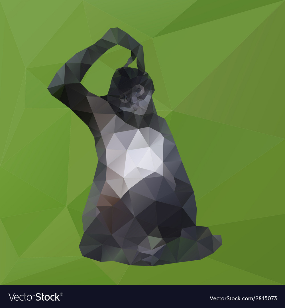 Thinking monkey from triangles eps10 vector | Price: 1 Credit (USD $1)