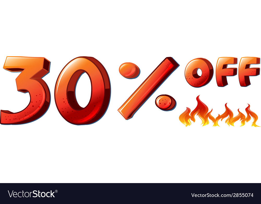 A big sale vector | Price: 1 Credit (USD $1)