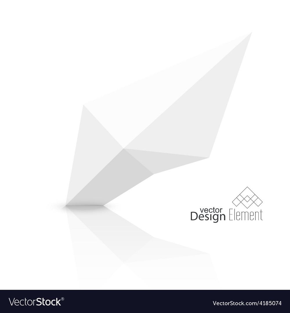 Abstract polygonal geometric shape vector | Price: 1 Credit (USD $1)