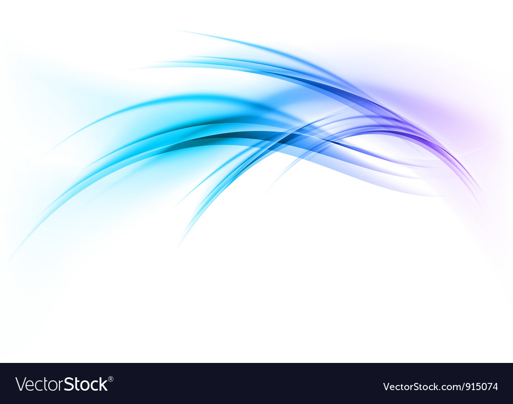 Abstract smoke on white curves blue vector | Price: 1 Credit (USD $1)