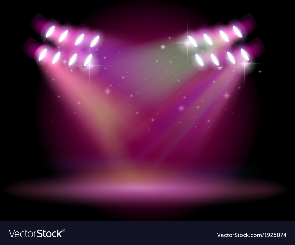 An empty stage with spotlights vector | Price: 3 Credit (USD $3)