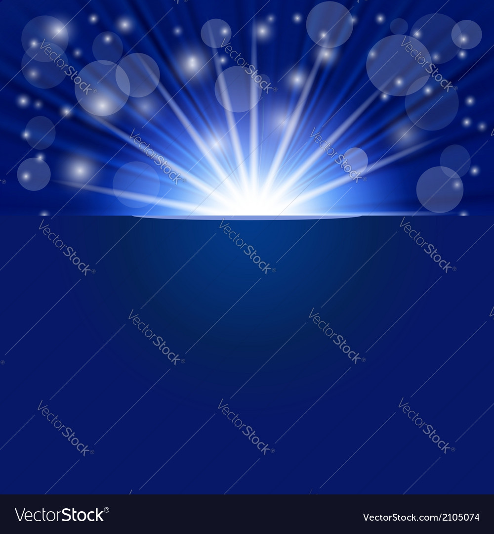 Blue ray background vector | Price: 1 Credit (USD $1)