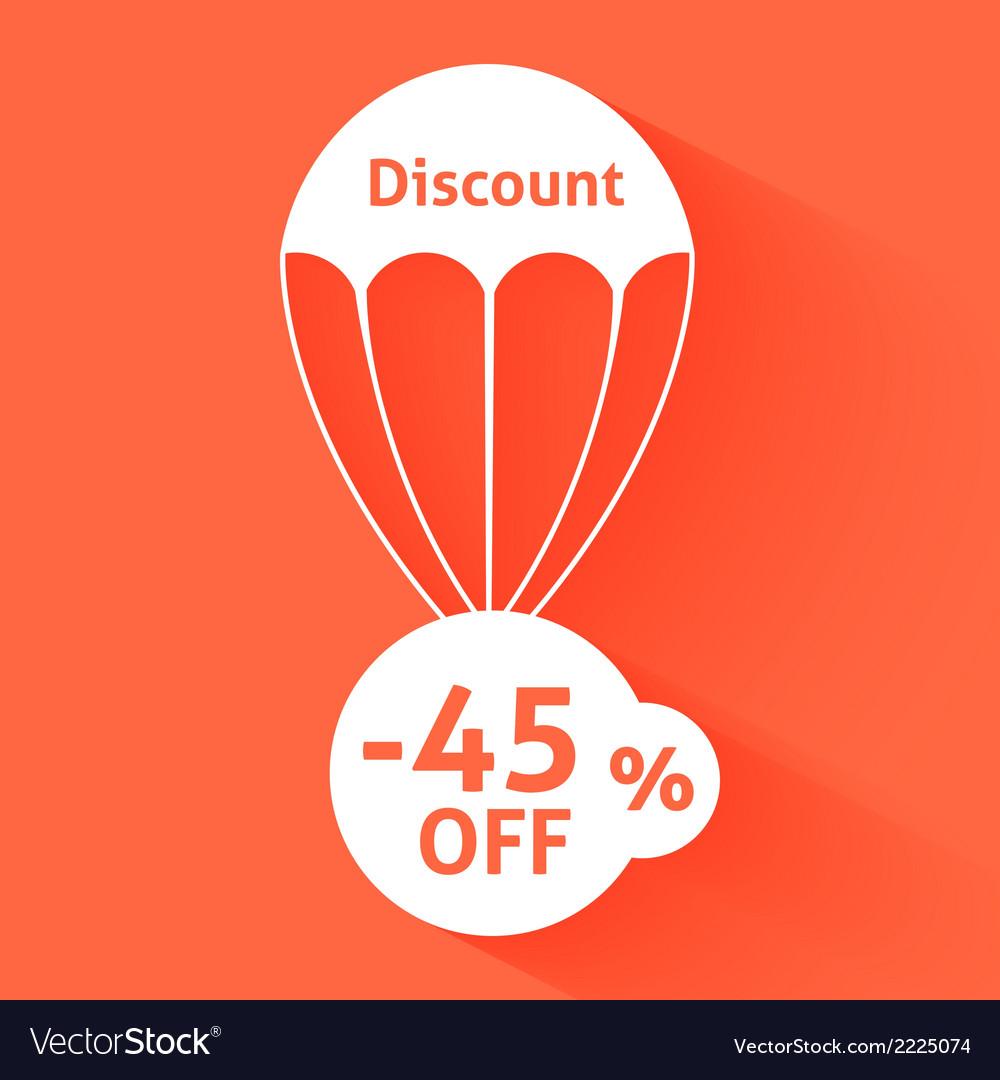 Discount parachute vector   Price: 1 Credit (USD $1)