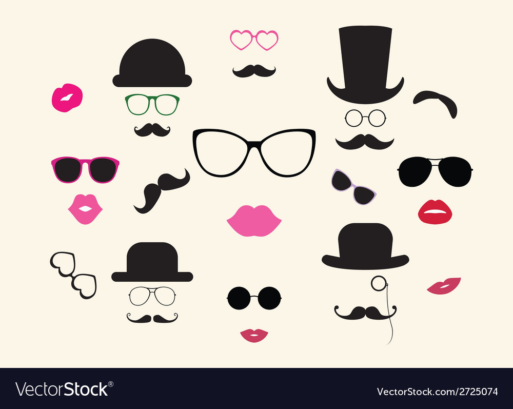 Lady and gentleman icon set vector | Price: 1 Credit (USD $1)