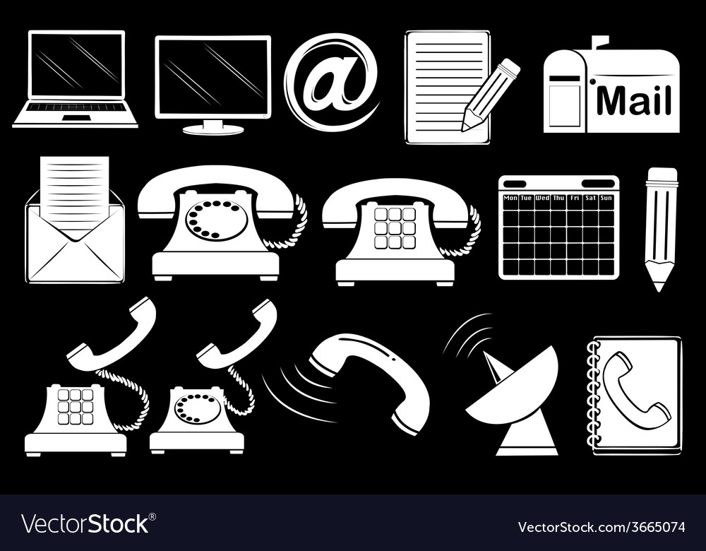 Set of communication tools vector | Price: 1 Credit (USD $1)