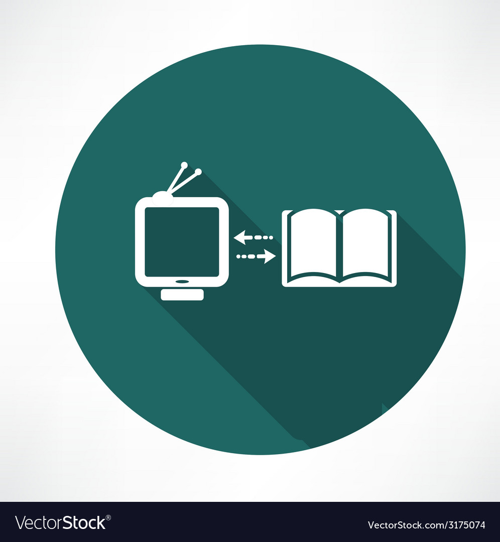 Tv and book exchange icon vector | Price: 1 Credit (USD $1)